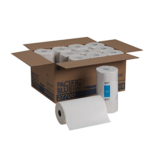 Pacific Blue Select 2-Ply Perforated Roll Paper Towel by Georgia-Pacific Pro, 250 Sheets Per Roll, 12 Rolls Per Case