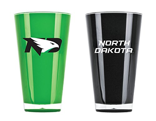 (NCAA North Dakota Fighting Sioux 20oz Insulated Acrylic Tumbler Set of 2)