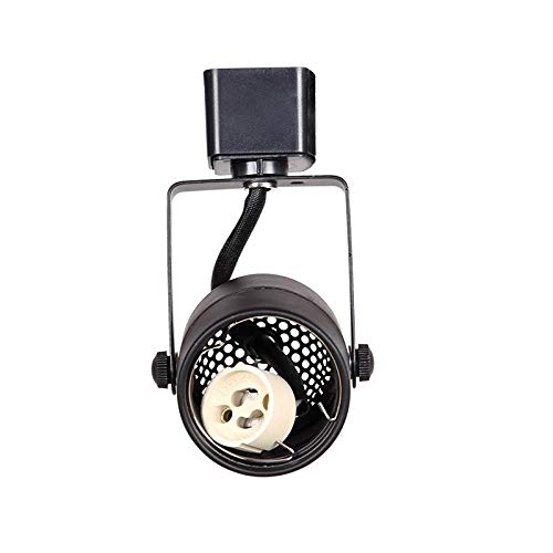 KING SHA Black GU10 Line Voltage Track Lighting Head (Bulb NOT Included) Compatible H Type Track Systems ETL-Listed