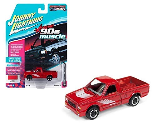 DIECAST 1:64 Muscle Cars USA - 1991 GMC Syclone (Bright RED) JLSP027-24B by JOHNNY LIGHTNING