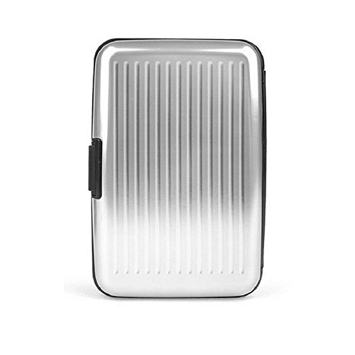 GPCT RFID Silver Aluminum Wallet for Men Would Make a Great Fathers' Day Present with this Metal Wallet Credit Card Holder