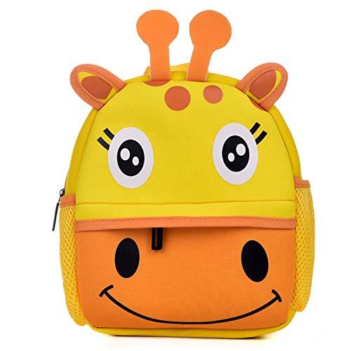 (Kids Backpacks, Toddler Boys/Girls Rucksack 3D Cartoon Cute Animal Schoolbag, Lightweight Breathable Child Daypack Bag,Giraffe)