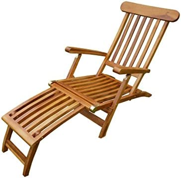 Longue Chaise Chaise Steamer Inclinable Jardin pour D wk8ONPXn0
