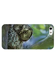 3d Full Wrap Case for iPhone 5/5s Animal Boreal Owl hjbrhga1544