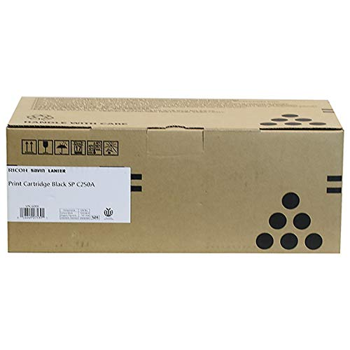 Ricoh 407539 SP C250 Black Toner Cartridge- 1 Pack in Retail Packing