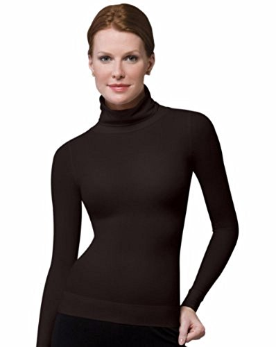 SPANX On Top and In Control Long Sleeve Turtleneck (973) (Small, Bittersweet) ()
