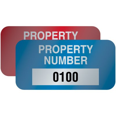 Polyester Property Number Asset ID Labels - 3/4