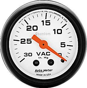 Auto Meter 5784 Mechanical Vacuum Gauge