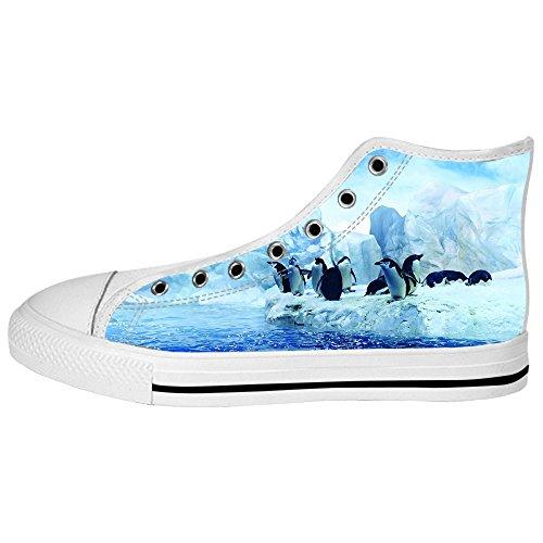 Ginnastica Scarpe Lacci Women's Shoes Da Delle Alto Tetto Pinguino Canvas I Custom 6qzw0X