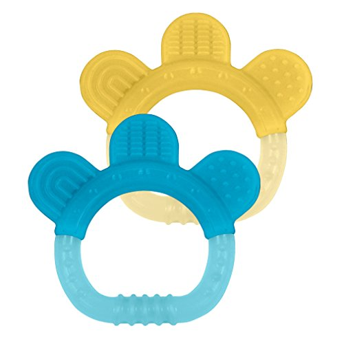 green sprouts Silicone Teethers (2 pack) | Soothes gums & promotes healthy oral development | Multiple textures massage gums, Easy to hold, gum, chew, Dishwasher safe