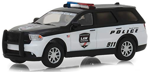 Greenlight 1/64 2017 Dodge Durango Special Service Demo Scheme Police SUV, Black/White from Greenlight