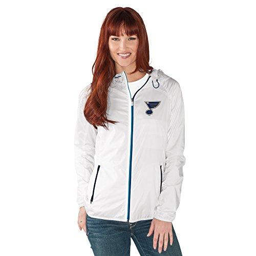NHL Damen Spring Training Leichtes Full Zip Jacke, Damen, G34Her Spring Training Light Weight Jacket, weiß, Small