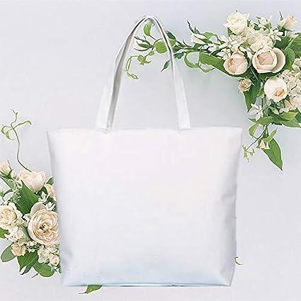 Blanc Doitsa Femme Sac /à Main Simple Loisirs Cabas Sac de Courses Couleur Unie