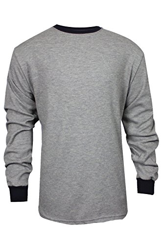 National Safety Apparel C541NGELS2X TECGEN Select Long Sleeve FR T-Shirt, XX-Large, Grey by National Safety Apparel Inc