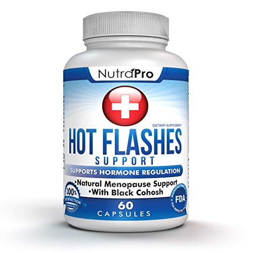 Hot Flashes Menopause Relief All Natural :Support Weight Loss,Mood Swing,Disturbed Sleep,Hot Flash Relief Vitamins-With Black Cohose,Dong Quai.Stop Menopausal Symptoms,Stay Cool.For Women.60 Capsules.