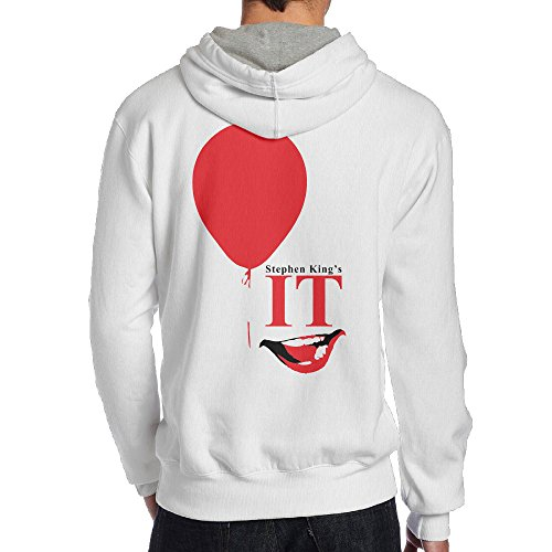 SAMMOI Stephen King's It Fancy Men's Hoodies XL White