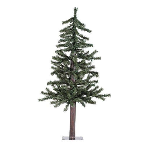 Pine Christmas Trees - Vickerman Natural Alpine Tree-Unlit, 3-Feet, Green