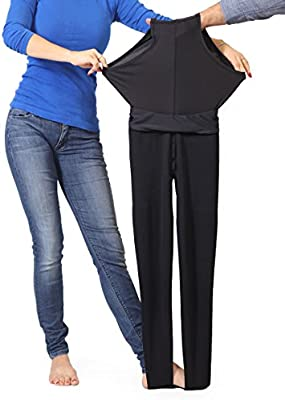 9a9f247dd9c4d2 ... Extra Firm Footless Graduated Compression Microfiber Leggings Opaque  Pants (20-30 mmHg) with ...