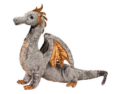 Cuddle Toys 740 Faust Silver Dragon Toy