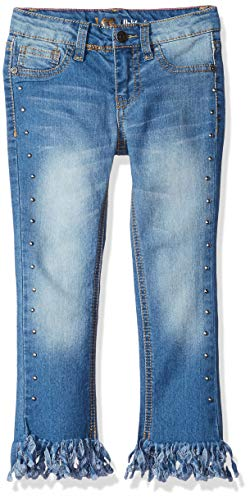 (LEE Girls' Little Fashion Skinny Crop Jean, Fray Meadow Blu, 5)