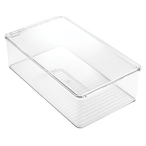 InterDesign Clarity Bathroom Storage Box Organizer for Vitamins, Medicine, Medical, Dental Supplies - Clear by InterDesign