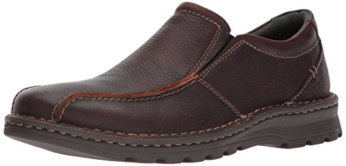 Clarks Men's Vanek Step Shoe, brown oily leather, 9 Medium US