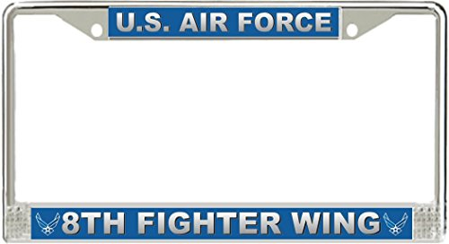 BAX Trading US Air Force 8th Fighter Wing Heavy Duty Steel License Plate Frame