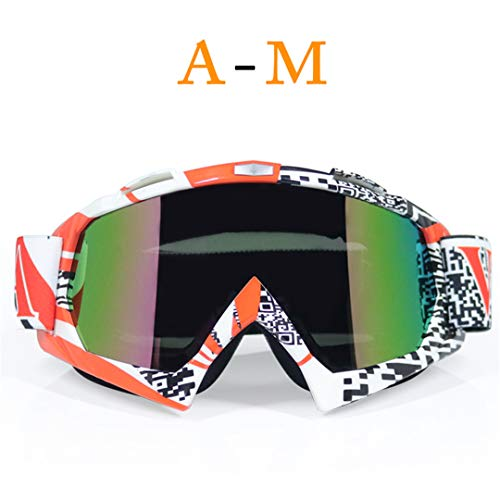 MT&GLAGGLE Transparent Sport Racing Off Road Motocross Goggles Glasses for Motorcycle Dirt Bike H1