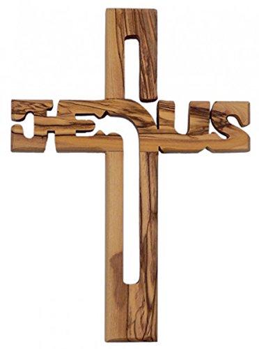 'Crucifix' en bois d'olivier 20cm Geschenke Direkt