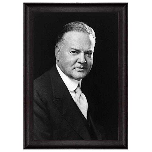 Portrait of Herbert Hoover (31th President of the United States) American Presidents Series Framed Art Print