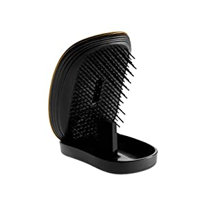 Ikoo Compact Detangling Hair Brush, No More Tangled Hair - Great for Wet or Dry Hair, Women, Men, Girls and Boys. Extensions, Natural Hair or Wigs. (soleil)