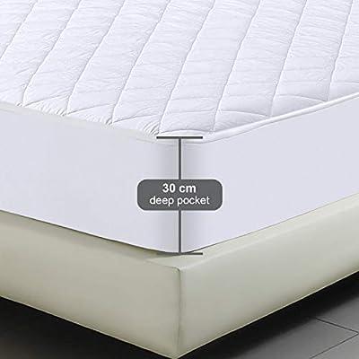 Utopia Bedding - Protector de colchón Acolchado - Microfibra ...