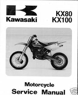 kawasaki kx80 kx100 motorcycle service manual kawasaki amazon rh amazon com 08 KX 100 KX 100 Rider Size