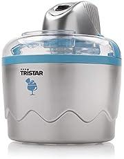 Tristar YM-2603 Heladera Máquina de helados, 7 W, 0.8 litros, De plástico, Plata