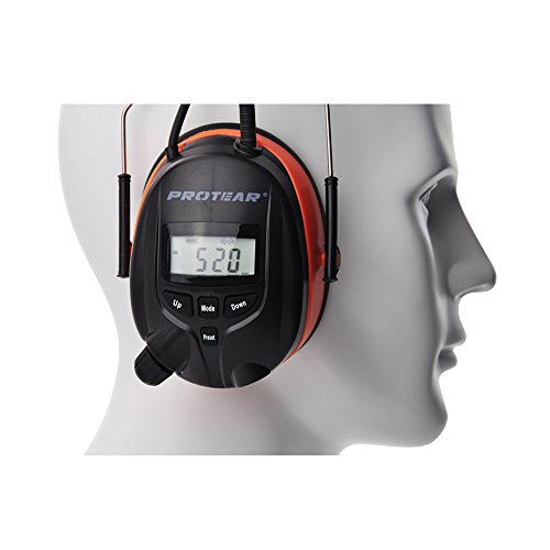 Bluetooth & Radio AM/FM Hearing Protection Ear Protector - Wireless Noise Reduction Safety Earmuffs - NRR 25dB Headphones for Working Mowing Construction by PROTEAR (Image #7)