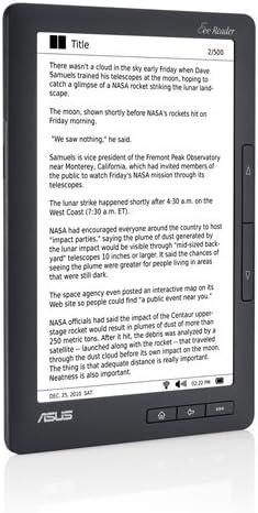 ASUS DR-900 lectore de e-Book Pantalla táctil 2 GB WiFi Negro ...
