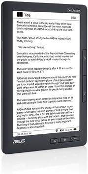 ASUS DR-900 lectore de e-Book Pantalla táctil 2 GB WiFi Negro: Amazon.es: Electrónica
