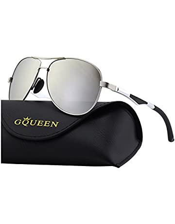 012db85b0f GQUEEN Classic Polarized Pilot Mirrored UV400 Protection Driving Sunglasses  with Premium Metal Frame for mens womens