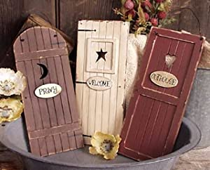 Outhouse Doors Signs ~ Bathroom Wall Decor ~ Set of 3 ~ Welcome Privy Outhouse & Amazon.com: Outhouse Doors Signs ~ Bathroom Wall Decor ~ Set of 3 ... pezcame.com