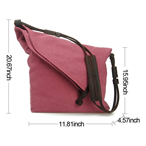 Purple tm Crossbody Retro Fansela Messenger Satchel Bag Oversized Bag Hobo Canvas vxxwd1qHUt