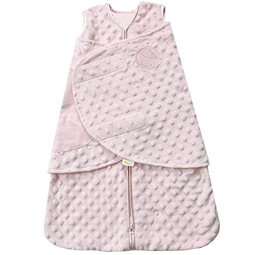 Sack Newborn (HALO SleepSack Plush Dot Velboa Swaddle, Pink, Newborn)