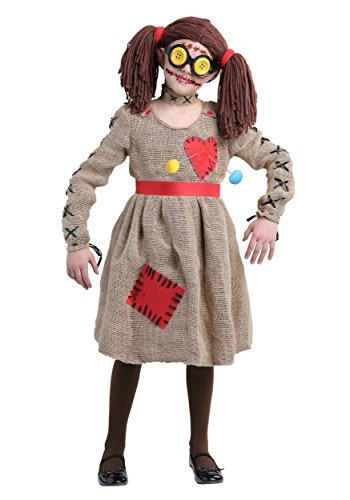 Girls Voodoo Doll Costume (Burlap Voodoo Doll Girls Costume)