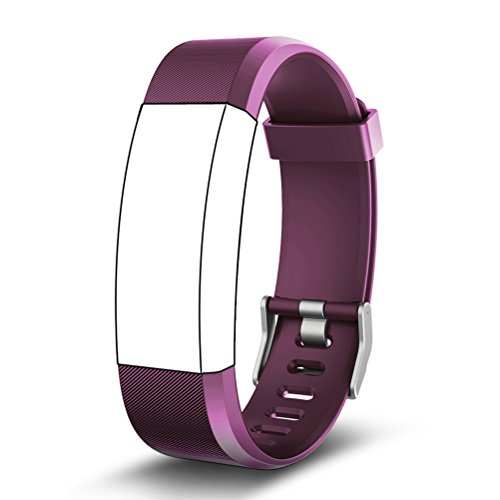 Replacement Bands for Fitness Tracker, Kybeco Elegant Waterproof Heart Rate Monitor Activity Tracker Bluetooth Wearable Wristband Wireless Step Counter Smart Bracelet Watch (Purple)