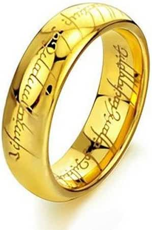 Elove Jewelry Tungsten Carbide Steel Lord Rings