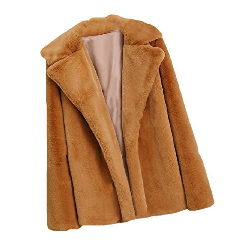 Solid XINHEO Womens Parka Shaggy Camel Size Plus Fuzzy Fall Cardigan Outwear aq7IqU
