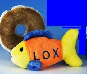 The Ultimate Chewish Toy NOSH for Your Jewish Dog-The Stuffed Plush Lox and Bagel (with a Shmear) ()