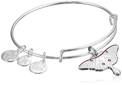 Ring Nordstrom White - Alex and Ani Luna Moth Expandable Rafaelian Shiny Silver Bangle Bracelet