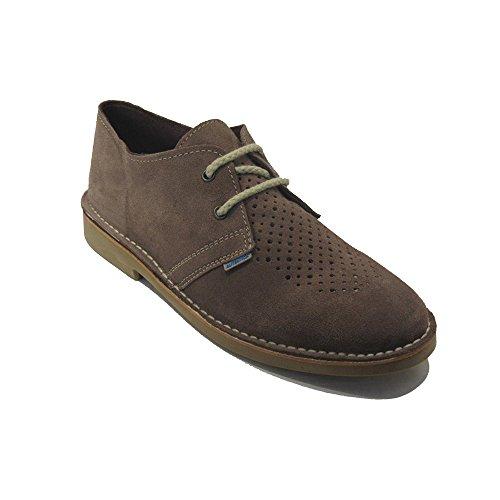 K901FPCP - Zapato safari perforado taupe