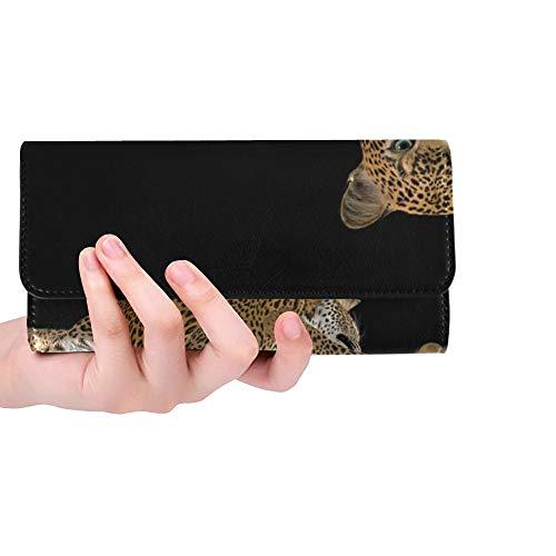 Unique Custom Cheetah Big Cat Predator Wild Animal Wildcat 2008104 Women Trifold Wallet Long Purse Credit Card Holder Case Handbag