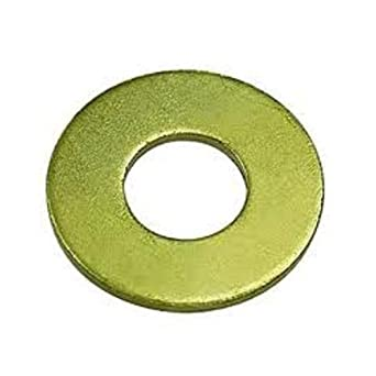 Steel Flat Washer Zinc Yellow Chromate Plated Finish Grade 8 ASME B18221 7 16 Screw Size 15 32 ID 59 64 OD 0065 Thick Pack Of 50
